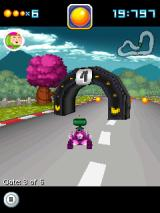Pac-Man Kart Rally 3D J2ME Challenge mode - race through gates in time