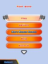 Pac-Man Kart Rally 3D J2ME Main menu