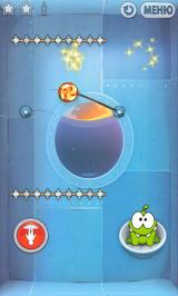 Cut the Rope Android The cosmic box introduces buttons that change gravity