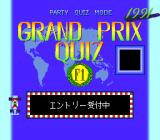 "Quiz Avenue II TurboGrafx CD The ""F1 mode"": Grand Prix Quiz"