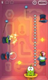 Cut the Rope Android Tricky hat-portal jumping and spike-avoiding required!
