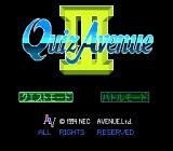 Quiz Avenue III TurboGrafx CD Title screen