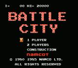 Battle City NES Title Screen