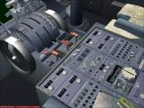 737 NG: 600 / 700 Windows A screen shot of the 737-700's central console in virtual cockpit mode