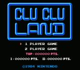 Clu Clu Land NES Title Screen