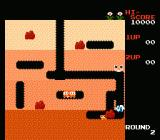 Dig Dug NES Squashing with a rock