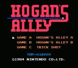 Hogan's Alley NES Title Screen