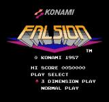 Falsion NES Title screen
