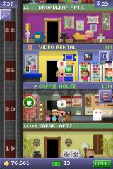 Tiny Tower iPhone Aaargh! Run! There's a ghost in the coffee shop... oh, just a guy wearing a sheet. Never mind then...
