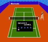 Tennis NES Selecting skill level