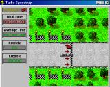 Turbo Speedway Windows 3.x Starting the race against the clock