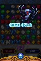 Bejeweled 3 iPhone Game over. The spider got your butterfly.