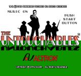 The Untouchables NES Title screen (Japanese version)