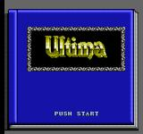 Ultima IV: Quest of the Avatar NES Title screen (Japanese version)
