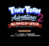 Tiny Toon Adventures 2: Trouble in Wackyland NES Title screen (Japanese version)