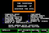Zombies Apple II Choose a dungeon!
