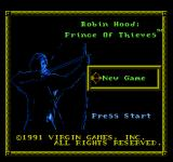 Robin Hood: Prince of Thieves NES Main Menu