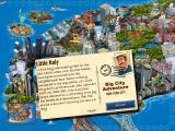 Big City Adventure: New York City iPad Game start - postcard Little Italy