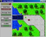Turbo Speedway Windows 3.x collecting the points for future car-improvements