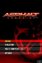 Asphalt: Urban GT Nintendo DS Title Screen and Main Menu