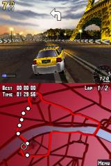 Asphalt: Urban GT Nintendo DS The game will warn you about the more drastic bends in the track.
