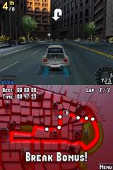 Asphalt: Urban GT Nintendo DS Property damage will also earn you bonuses.