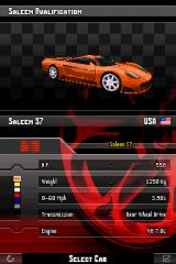 Asphalt: Urban GT Nintendo DS The sporty Saleen S7