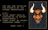 Yo! Joe! Beat the Ghosts DOS You get some hints between the levels.