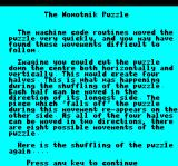 Nowotnik Puzzle Oric Instructions part 2