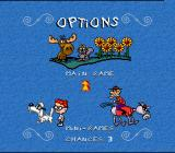 The Adventures of Rocky and Bullwinkle and Friends SNES Main menu