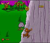 The Adventures of Rocky and Bullwinkle and Friends SNES Dodging a boulder