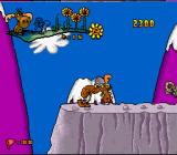 The Adventures of Rocky and Bullwinkle and Friends SNES Bullwinkle can break things with his head!