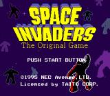 Space Invaders TurboGrafx CD Title screen