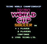 Tecmo World Cup Soccer NES Title screen