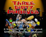 Three Dirty Dwarves SEGA Saturn Title screen