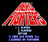 Aero Fighters SNES Aero Fighters title screen