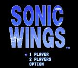 Aero Fighters SNES Sonic Wings title screen