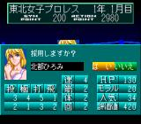 Wrestle Angels: Double Impact TurboGrafx CD Wrestler's stats in management mode