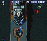 Aero Fighters SNES The boss of level 2 is a boat