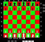 Chess Oric 1st move, using co-ordinate input