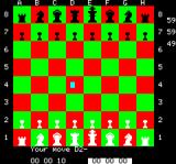 Chess Oric another 1st Move, using cursor input.