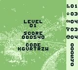 Cool Ball Game Boy Players get a password after defeating a level