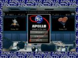 Apollo: Mission to the Moon Windows The game's main menu screen resembles mission control.