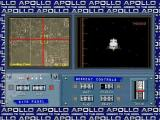 Apollo: Mission to the Moon Windows Phase One: Lunar Landing. The player must steer the cross hairs to the landing site in the left window (and keep them there) while simultaneously managing the rate of descent in the right window