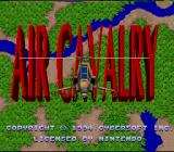 Air Cavalry SNES Title screen