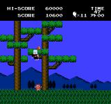 Jajamaru no Daibōken NES Level 2 you can only aim in the air