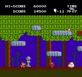 Jajamaru no Daibōken NES Level 3 has you battling devils in the jungle