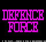 Defence Force Oric Title Screen