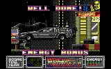 Back to the Future Part II DOS Level 3 - Completed level and flying out with Doc in the DeLorean.