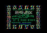 Bomb Jack II Amstrad CPC Title screen and main menu